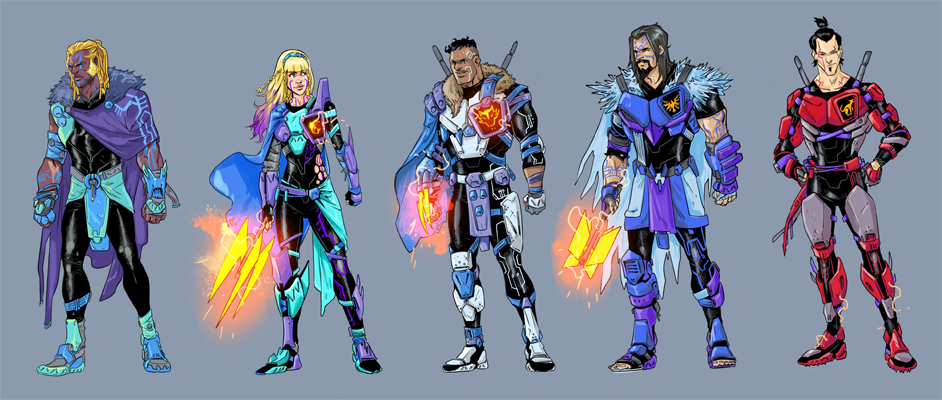 Fico Ossio's Spectral Knight character designs